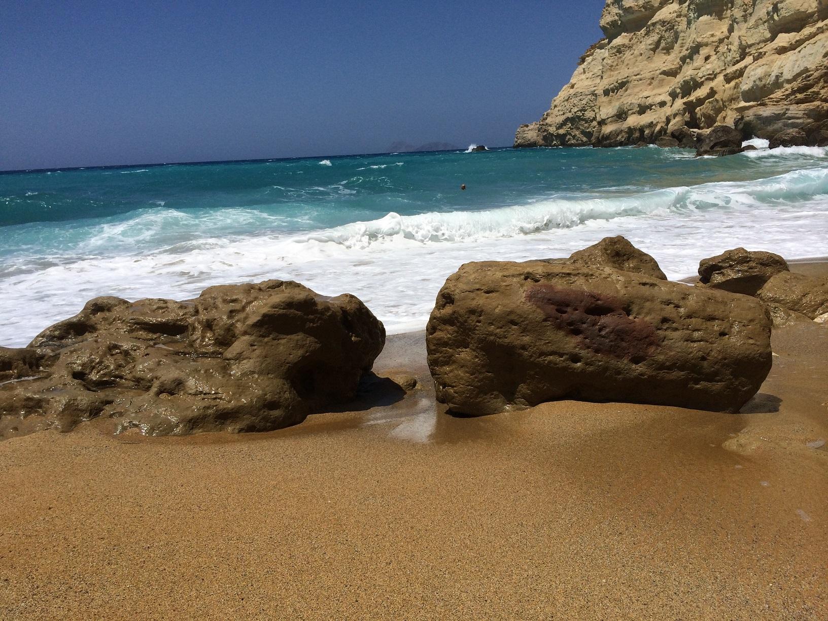 Matala Red beach